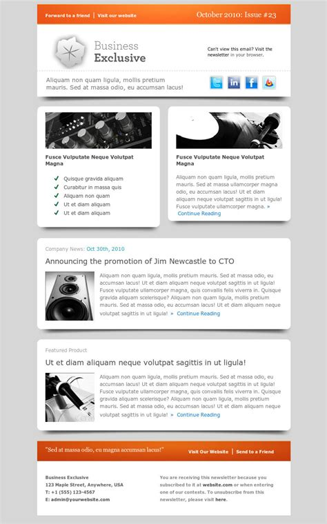 email newsletter templates 10 best email newsletter templates for your business