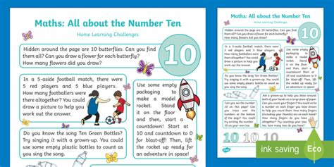 * New * Eyfs Maths All About Number Ten Home Learning