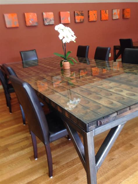 images  reclaimed wood tables  pinterest