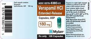 Verapamil Extended Release Capsules - FDA prescribing information, side effects and uses Verapamil Extended-release