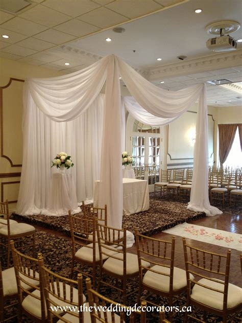 Drape Decoration - ceremony draping canopy chuppah small drapery setting
