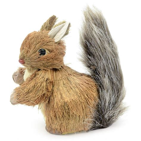 natural squirrel decoration   craftoutletcom
