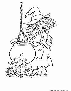 witch halloween coloring pages printableFree Printable ...