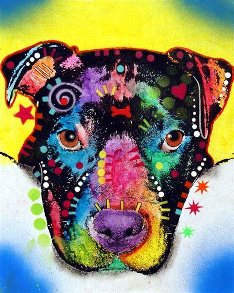 otter pitbull painting  dean russo art