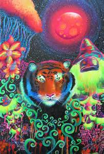 Trippy Psychedelic Tiger