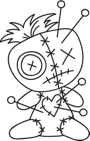 Voodoo Doll design (UTH3414) from UrbanThreads.com | Doll
