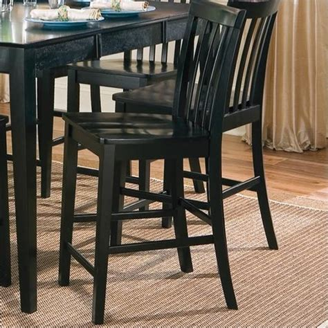 coaster pines counter height slat back dining chair in