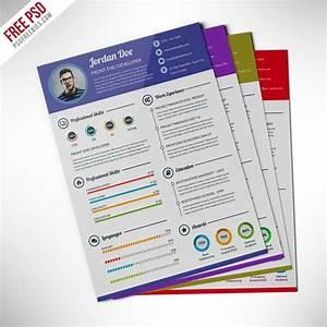 professional resume cv template free psd psdfreebiescom With free resume template psd