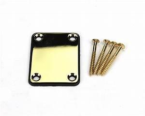 Pbg Neck Plate W  Screws - Gold