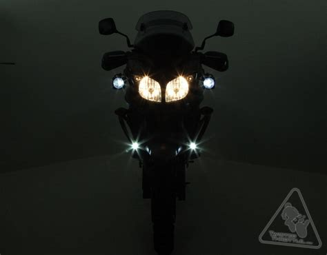 light bulb mount denali d2 dual intensity led motorcycle lighting kit with