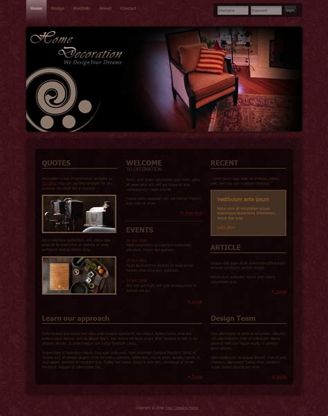 The Templat by Decoration Free Html Css Templates