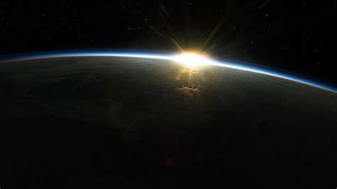 sunrise sun outer space world earth atmosphere 1920x1080 ...