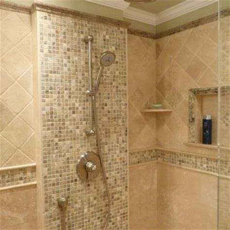 master bath travertine house pinterest