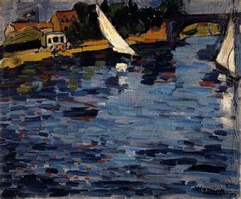 Tugboat On The Seine Chatou by The Seine At Chatou By Maurice De Vlaminck 1876 1958