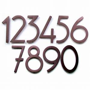 rust contemporary house numbers address plaques and With house letters