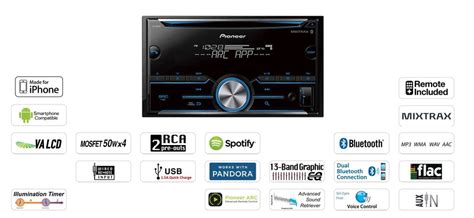 pioneer fh s500bt din in dash cd receiver with bluetooth freeman s car stereo