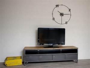 Meuble Tele Industriel : meuble t l industriel avec 4 clapets d 39 administration et niche ~ Teatrodelosmanantiales.com Idées de Décoration