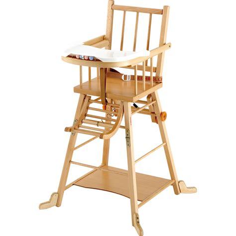chaise haute b 233 b 233 transformable vernis naturel de combelle