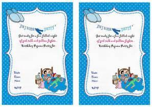 Sleepover Birthday Invitations Birthday Printable