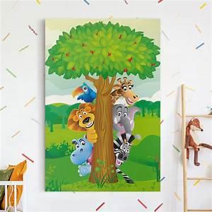 Bilder Fürs Kinderzimmer Leinwand : leinwandbild no bf1 dschungeltiere hoch 3 2 ~ Markanthonyermac.com Haus und Dekorationen