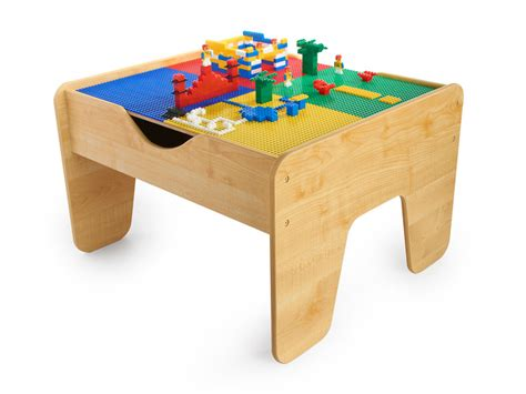 Kids Woot  2in1 Activity Table + Train Set + 200 Lego