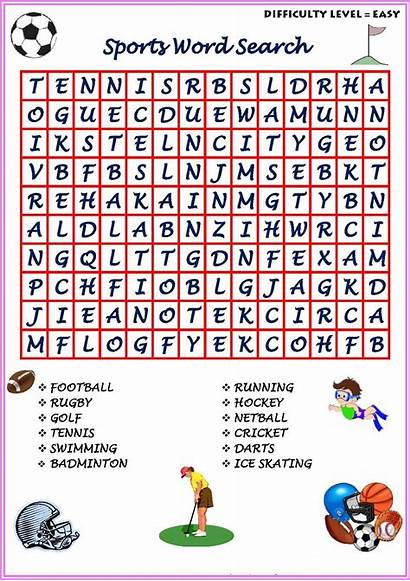 Word Sport Searches Easy Puzzle Sports Puzzles