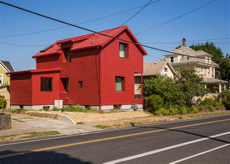 small red victorian house  portland