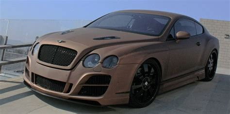 matte brown jeep prior bentley gt speed with full prior aerodynamic kit and