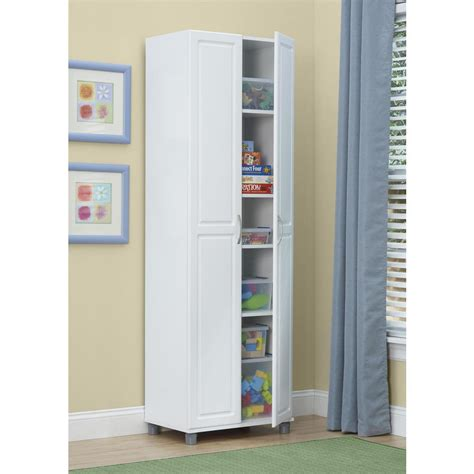 systembuild kendall white storage cabinet pcom