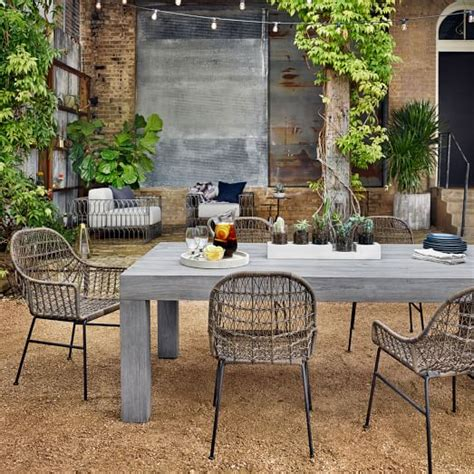 modern teak outdoor dining table west elm