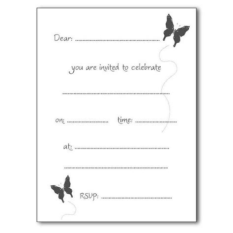 party invitation list template