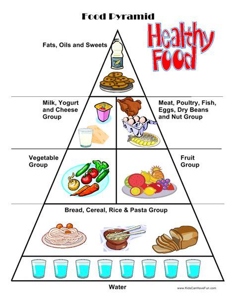 food worksheets cut paste activities food pyramid