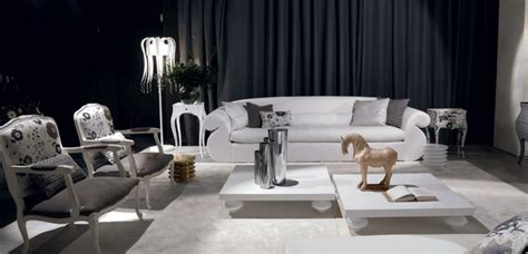 luxury oversized white sofa black  white modern
