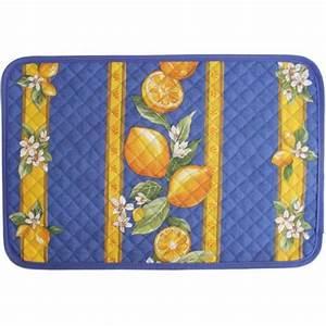 Set De Table Bleu : set de table citron bleu ~ Teatrodelosmanantiales.com Idées de Décoration