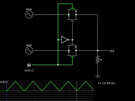 Cmos Multiplexer Circuit Simulator