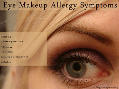 Eye Makeup Allergy Symptoms You aren't for a party without