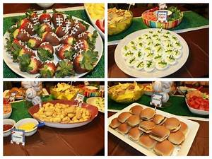 sports baby shower food - Dimple Prints