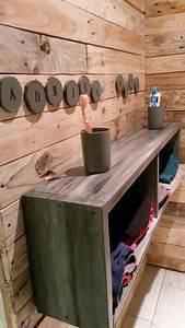 casiers de rangement avec planche de coffrage avec son With meuble en planche de coffrage