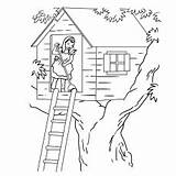 Stilt Easy Coloring Tree Pages Printable Drawing sketch template