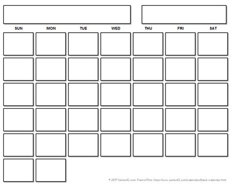 blank calendar template  printable blank calendars