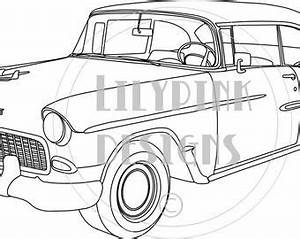 1955 chevy bel air digital stamp With 1955 chevy bel air