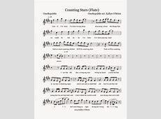 Flute Sheet Music Counting Stars Sheet Music