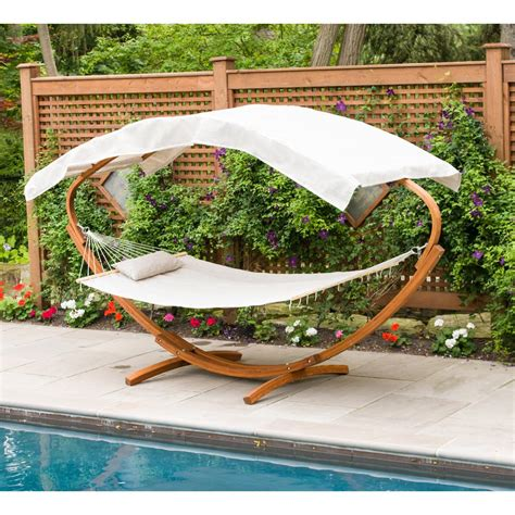 Canopy Hammock by Leisure Season 6 5 Ft Wooden Deco Hammock Stand With