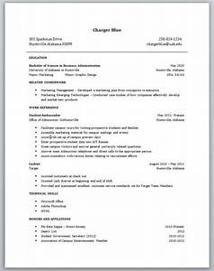 Resume Examples For Students With No Work Experience