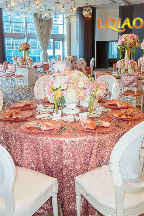 wholesale   cm pink gold sequin tablecloths