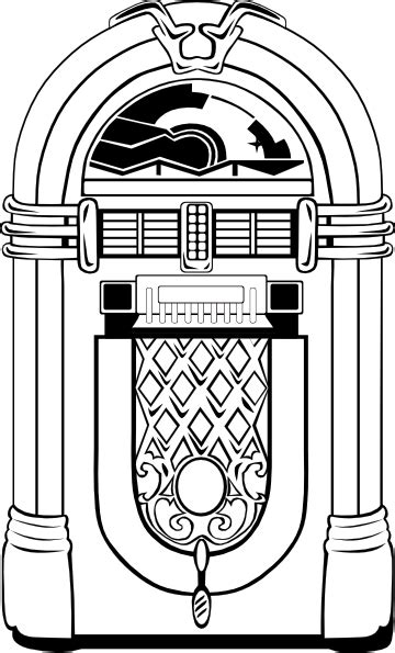 fifties jukebox  clip art  clkercom vector clip art  royalty  public domain