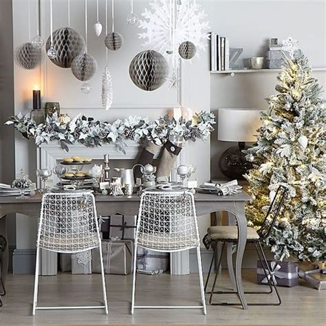 grey  silver christmas dining room black  white christmas silver christmas christmas