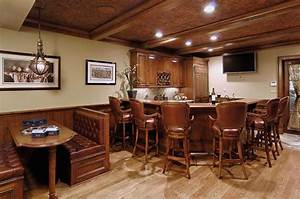 Rustic, Kitchens, With, Eating, Bar, Ideas