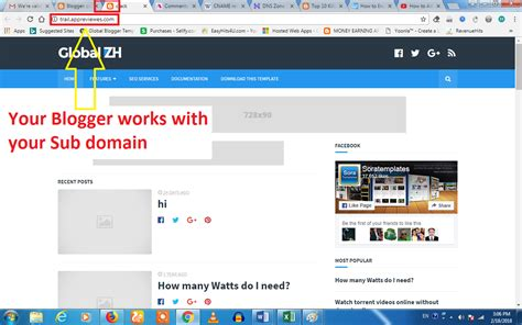 How To Set Sub Domain For Blogger Blogspot Website