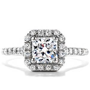 14k White Gold Fn Princess Cut White Diamond Wedding Solitaire With Accents Ring